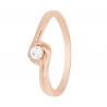 Золотое кольцо с фианитом (1101468101) - 1