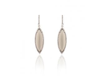 Серебрянные серьги с подвесками (17св12шамп)