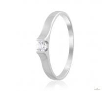 Золотое кольцо с фианитом (4198/1Sw)