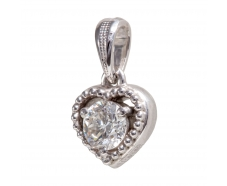 Золотой кулон с бриллиантом (33447б)