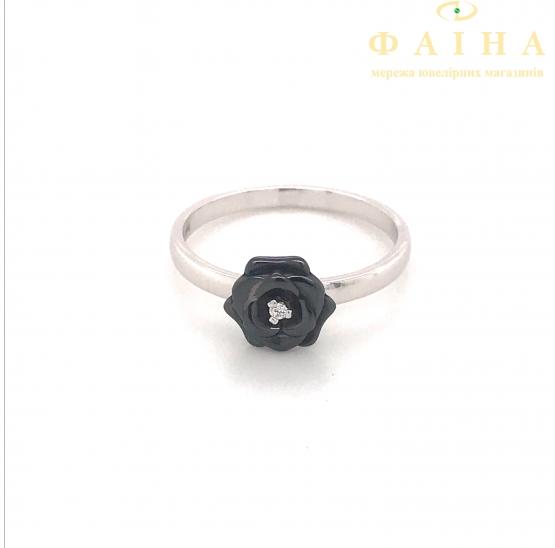 Серебряное кольцо (1629ч095) - 1