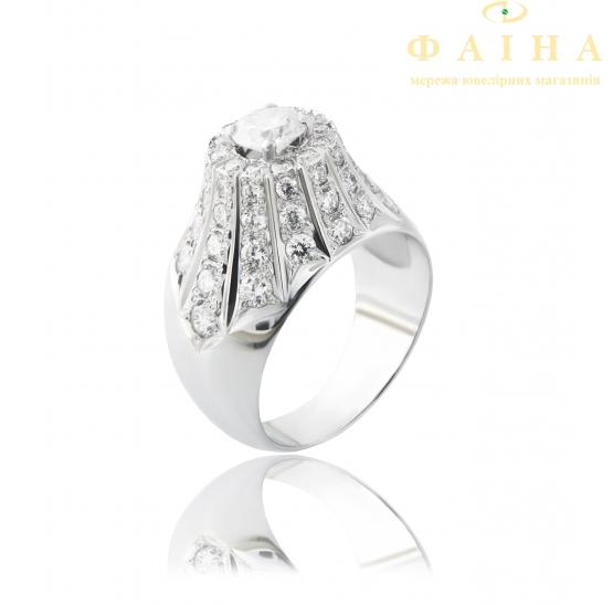 Золотое кольцо с бриллиантом (Пика) - 1
