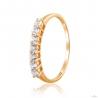 Золотое кольцо с фианитом (4196Sw) - 1