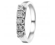 Золотое кольцо с бриллиантом (К-5Д)