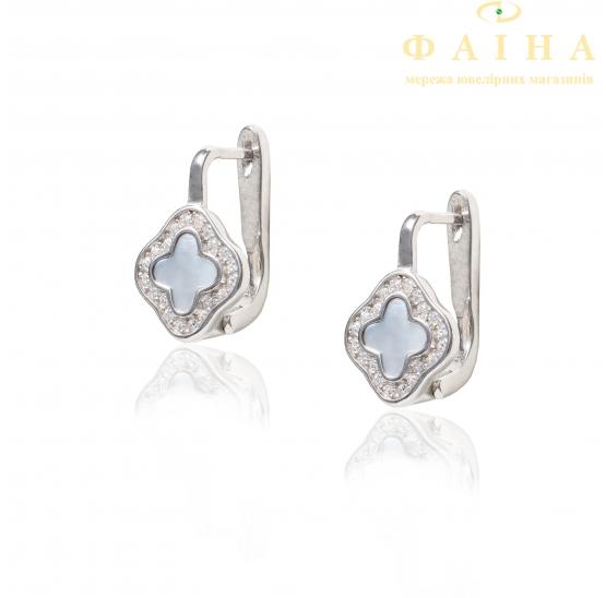 Серебряные серьги (СК2ПФ/255) - 1