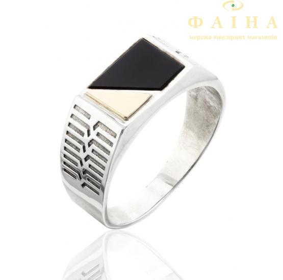 Серебряное кольцо-печать (421) - 1