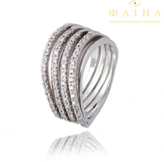Золотое кольцо с бриллиантом (157004) - 1