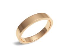 Золотое обручальное кольцо (100-0835)
