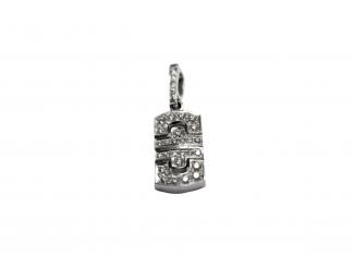 Золотой кулон с бриллиантом (к-булгари-б)