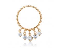Золотое кольцо с фианитом (4158Sw)