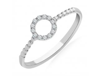 Золотое кольцо с бриллиантом и сапфиром (101-10055)