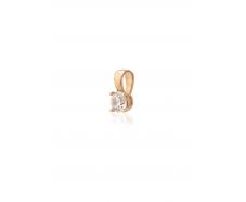 Золотой кулон с фианитом (4100Sw)