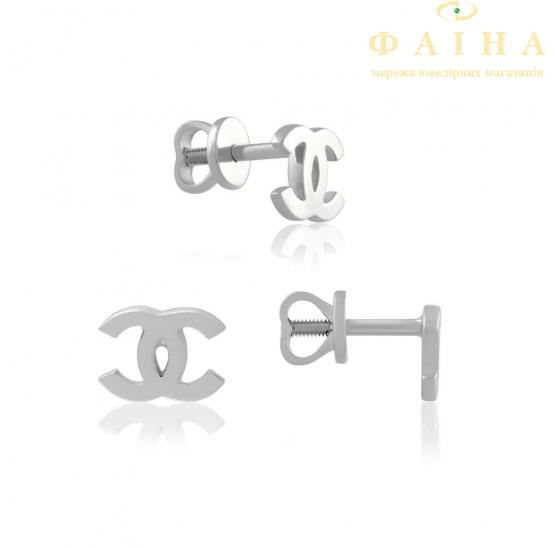 Золотые серьги-пуссеты (0559/1G) - 1
