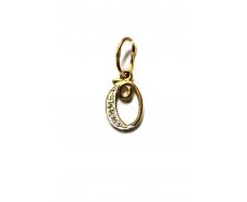 Золотой кулон-буква с фианитом (31034601)