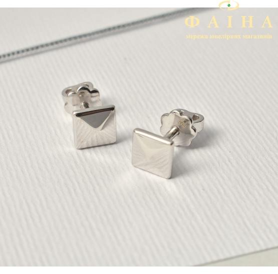 Серебряные серьги-пуссеты (т261619) - 1