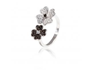 Серебряное кольцо с фианитом (КК2ФО/2023)