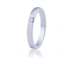 Золотое обручальное кольцо с бриллиантом (КОА7104/1)