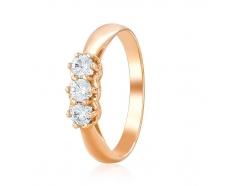 Золотое кольцо с фианитом (ко4102Sw)