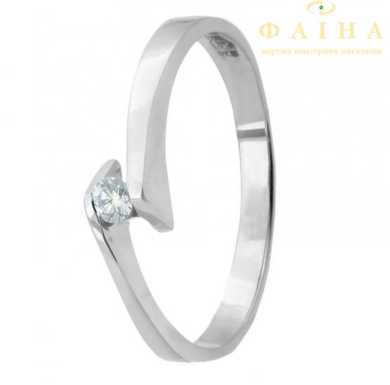 Золотое кольцо с бриллиантом (25б) - 1