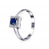 Золотое кольцо с бриллиантом и сапфиром (1946) - 1