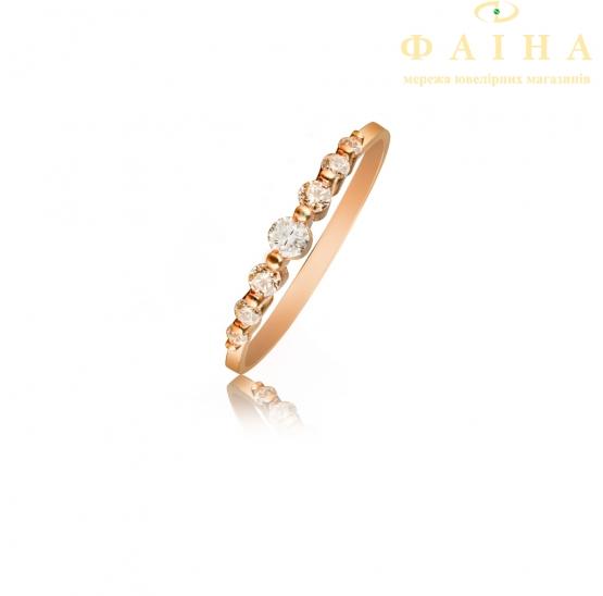 Золотое кольцо с фианитом (4181Sw) - 2
