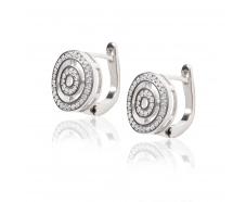 Серебряные серьги с фианитом (СК2Ф/2026)