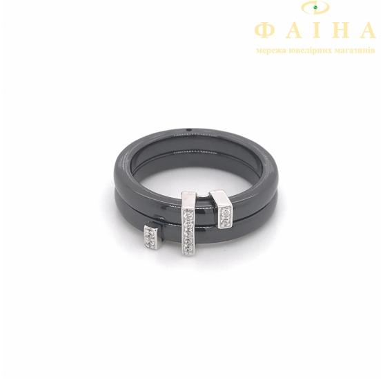 Серебряное кольцо (1629ч011) - 1