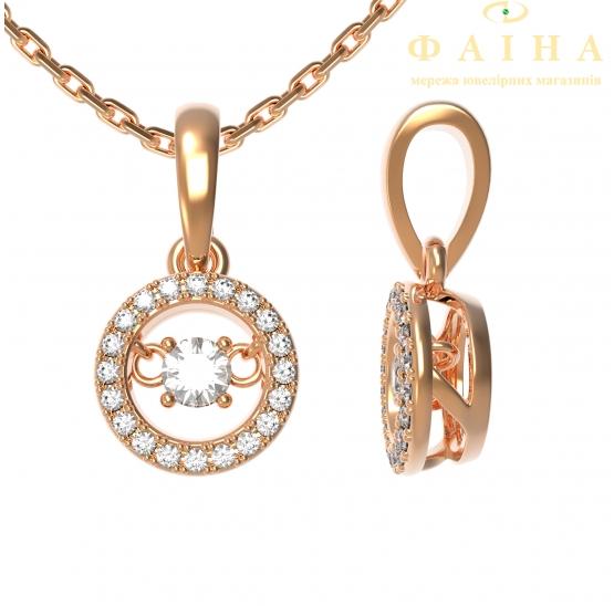 Золотая цепь-колье с бриллиантом (80098) - 1