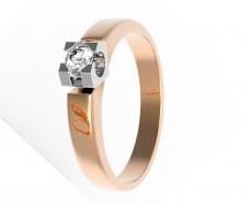 Золотое кольцо с бриллиантом (11934)
