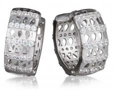 Серебряные серьги с фианитом (3288,1)