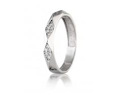 Серебряное кольцо с фианитом (2754,1)