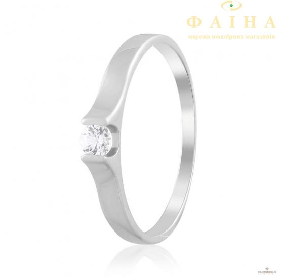 Золотое кольцо с фианитом (4198/1Sw) - 1