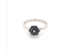 Серебряное кольцо (1629ч095)