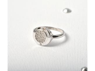 Серебряное кольцо с фианитом (т1624372)