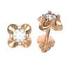 Золотые серьги-пуссеты с бриллиантом (22669) - 1