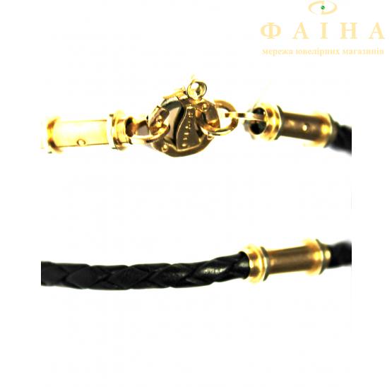 Шнурок с золотым замком (Ш5/baraka) - 1