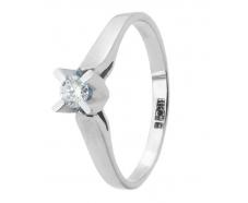 Золотое кольцо с бриллиантом (112-1062б)