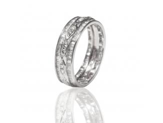 Золотое обручальное кольцо с бриллиантом (АR110-БК)