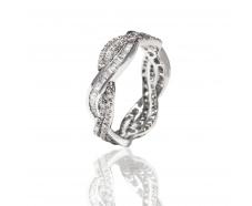 Золотое обручальное кольцо с бриллиантом (R1509-БК)