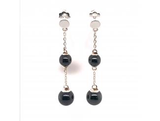Серебряные серьги-пуссеты (2619ч050)