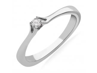 Золотое кольцо с бриллиантом и сапфиром (101-10033)