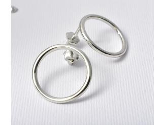 Серебряные серьги-пуссеты (т261628)