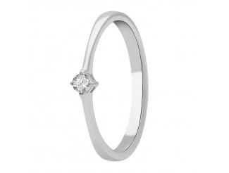 Золотое кольцо с бриллиантом и сапфиром (101-10025)
